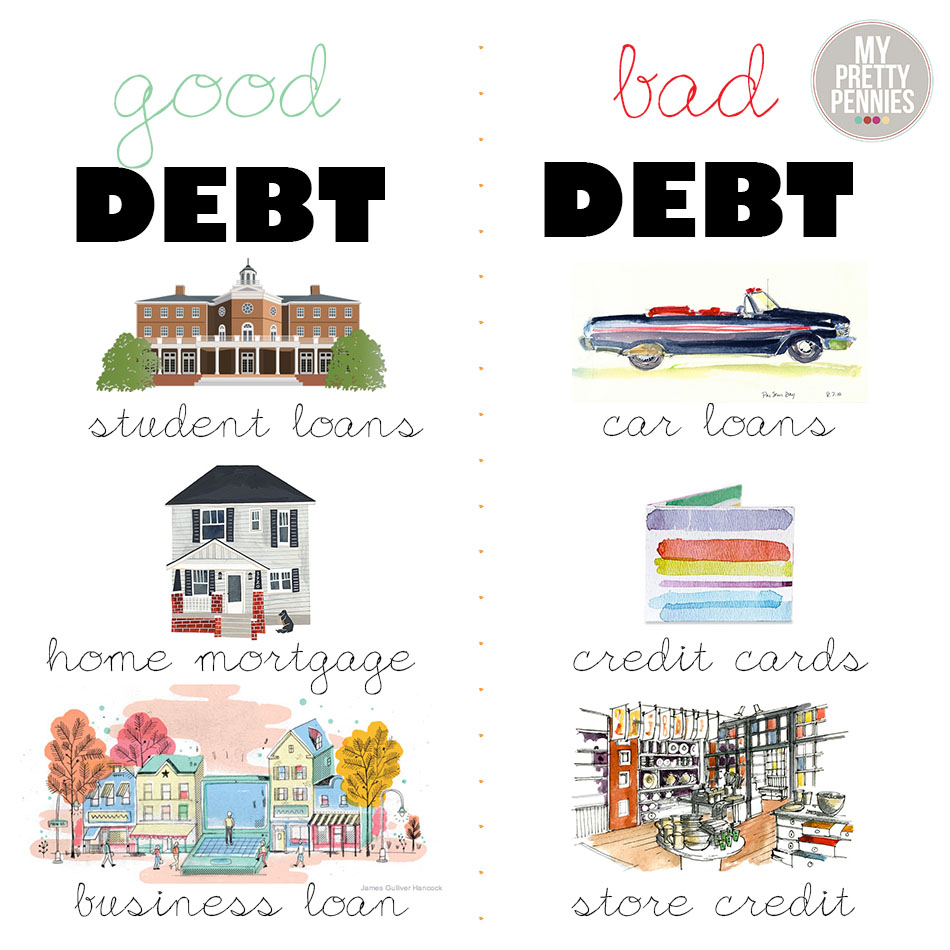 bad debt One of the most common ideas that personal finance writers bring up is the distinction between good debt and bad debt there are several fairly similar.